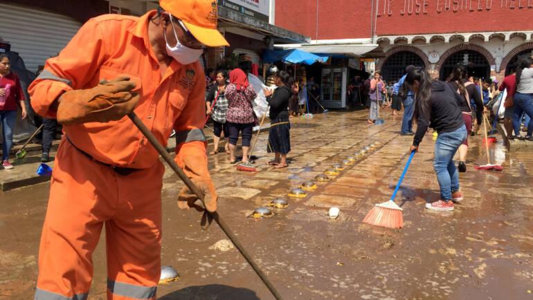 Modifica Departamento de Limpia de San Cristóbal de Las Casas horario de recolección de a pie en el primer cuadro de la ciudad frente a pandemia de covid-19