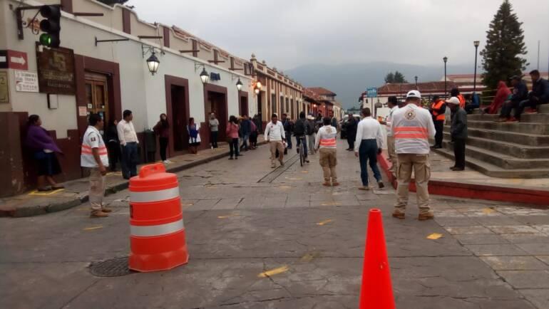 Mantiene Tránsito Municipal de San Cristóbal operativo de control de circulación en el primer cuadro de la ciudad y operativos en el transporte público