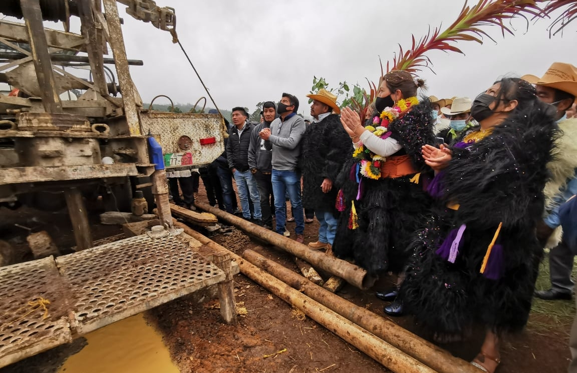 Inicia construcción de pozo profundo en la localidad La Sierra