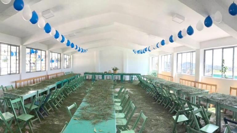 Construye Ayuntamiento de San Cristóbal comedor comunitario en barrio Santa Rita