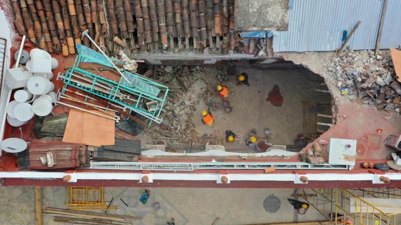 Atiende Protección Civil Municipal colapso de techado en los Portales de San Cristóbal