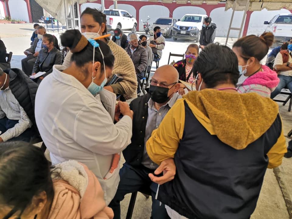 Inicia aplicación de la segunda dosis contra COVID-19 para adultos mayores de 60 años en San Cristóbal de Las Casas