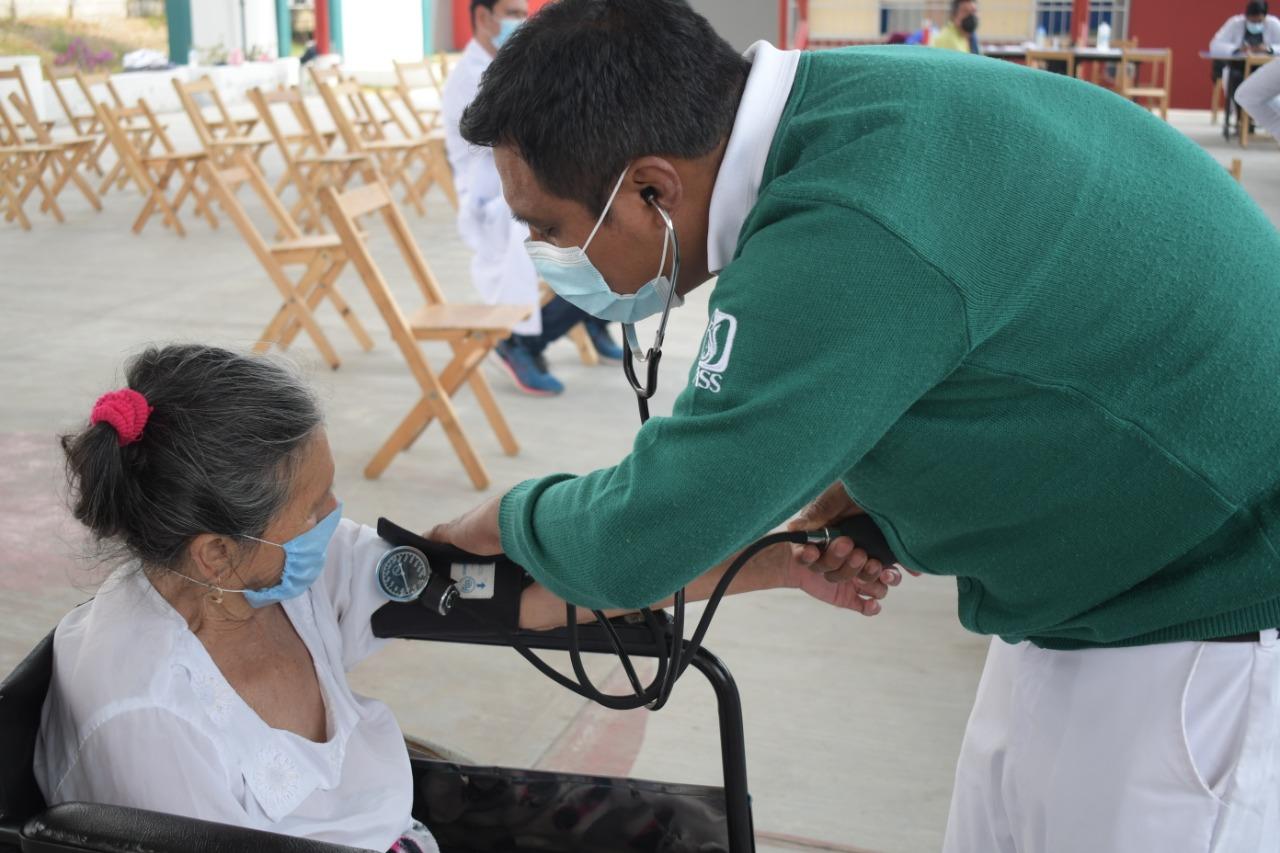 Tercer día de Vacunación contra la Covid-19 para adultos mayores de 60 años en SCLC