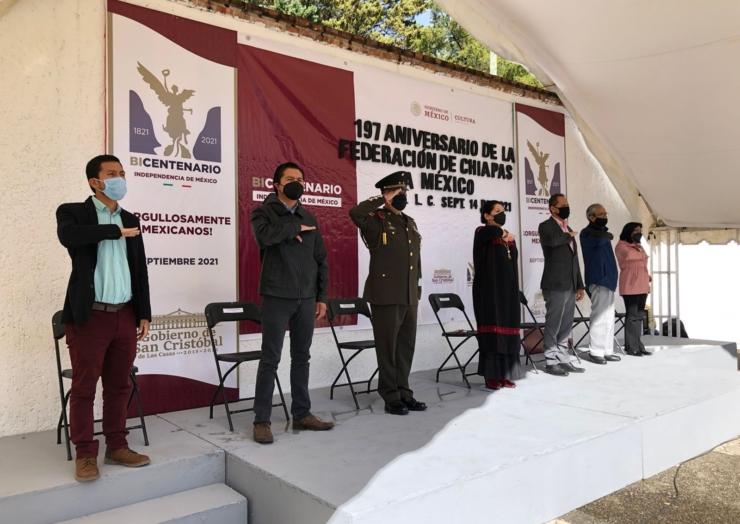 Conmemora Ayuntamiento 197 Aniversario de la Federación de Chiapas a México